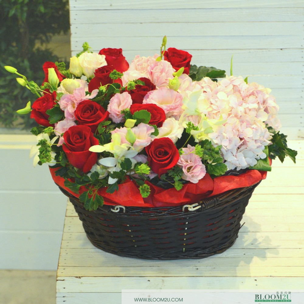 Anita Ekberg Rose Basket by Bloom2U