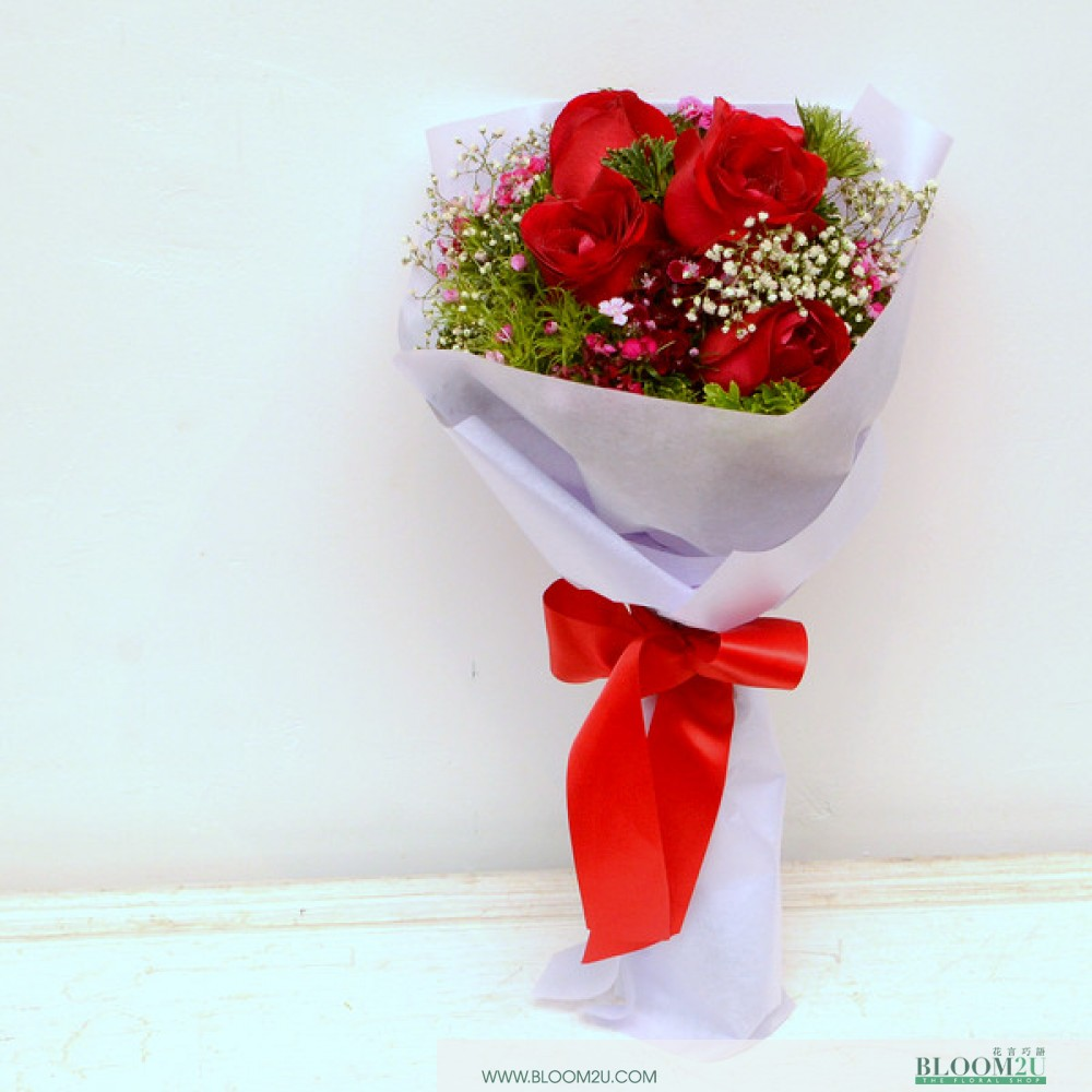 Ran Red Roses bouquet by Bloom2U